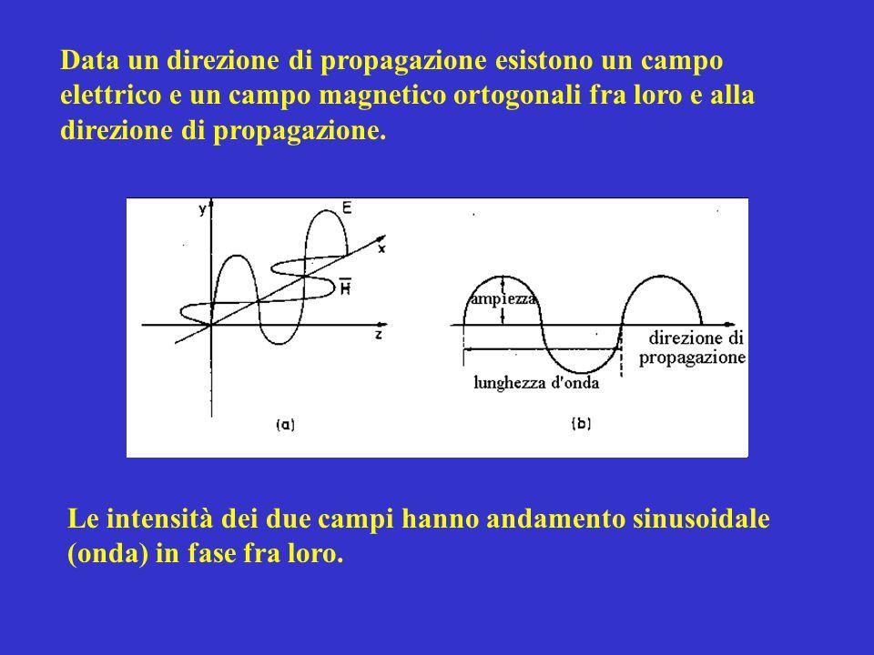 Data un direzione di propagazione esistono un campo elettrico e un campo magnetico ortogonali fra loro e alla direzione di propagazione. Le intensità