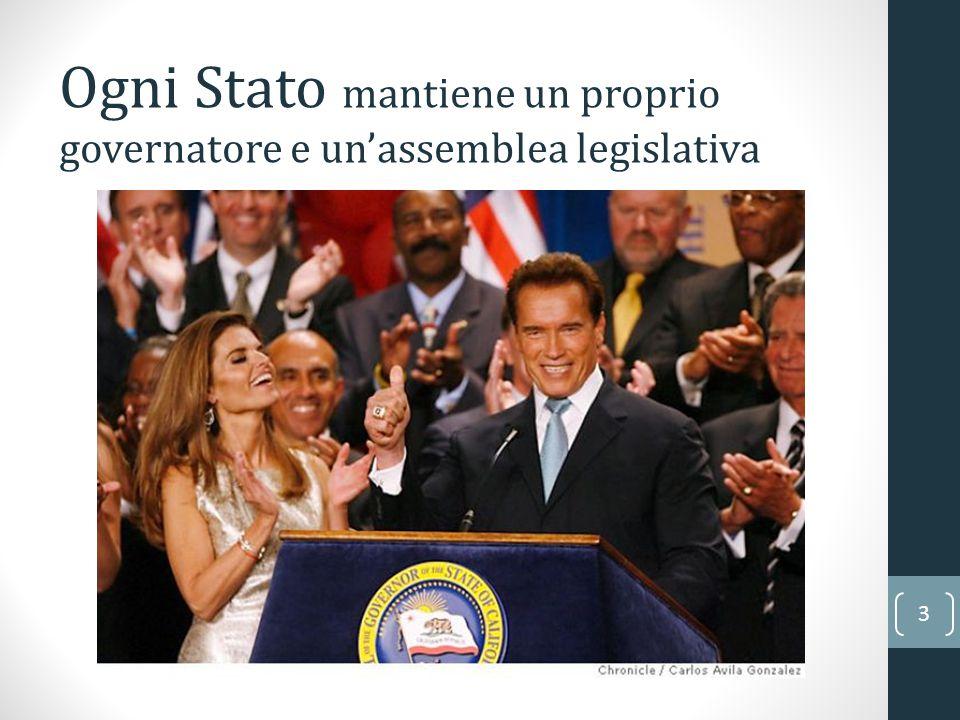 3 Ogni Stato mantiene un proprio governatore e un'assemblea legislativa