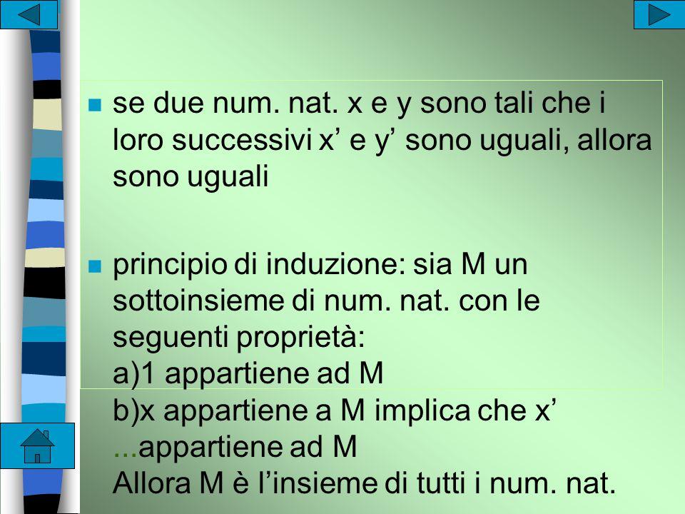Peano n 1 è un numero naturale n per ogni numero naturale x esiste un unico num.