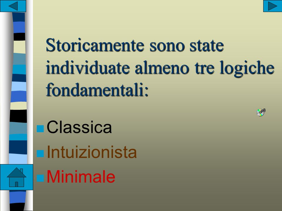 n costruttivistico-->la mat. come risultato di costruzioni mentali- >Poincaré n assiomatico-formalistico-->la teoria matem. giustificata dalla corrett