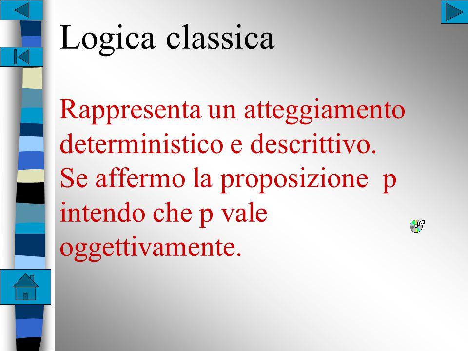 Storicamente sono state individuate almeno tre logiche fondamentali: n Classica n Intuizionista n Minimale