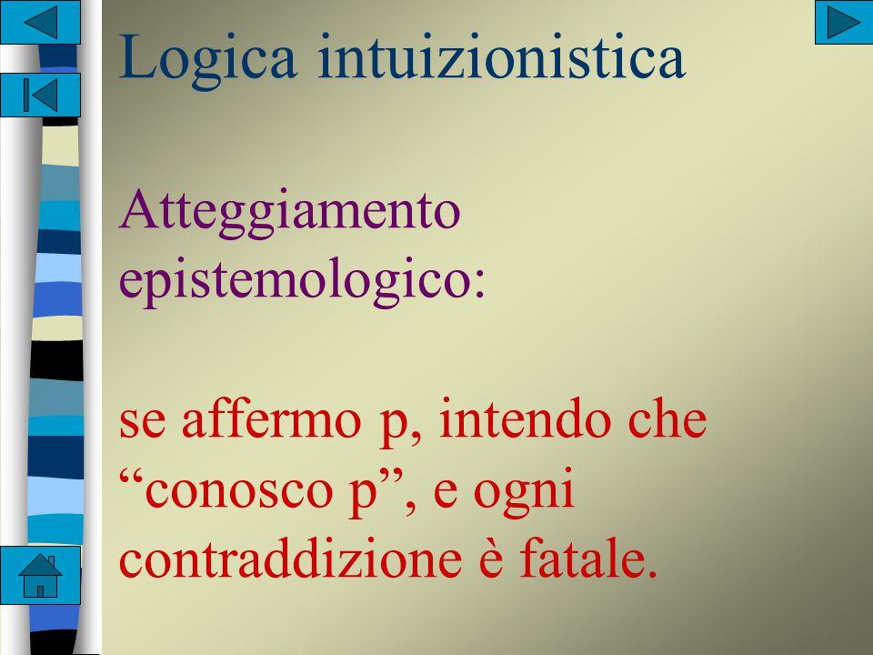 Logica classica Rappresenta un atteggiamento deterministico e descrittivo. Se affermo la proposizione p intendo che p vale oggettivamente.