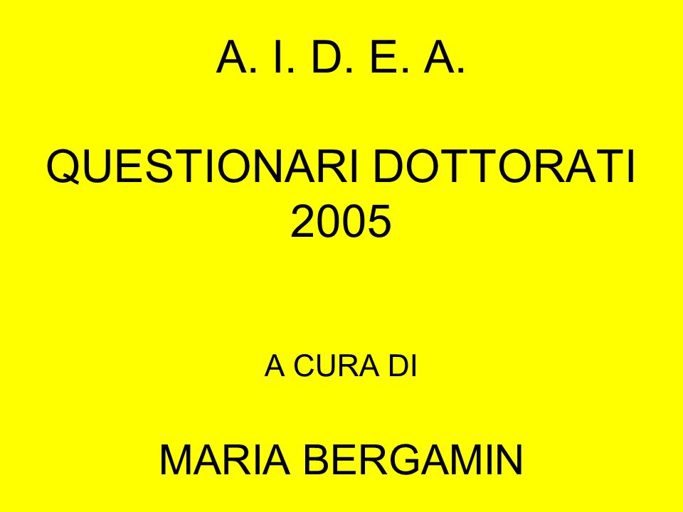 NASCITA DOTTORATI ANTE 1997N. 16 POST 1997N. 20