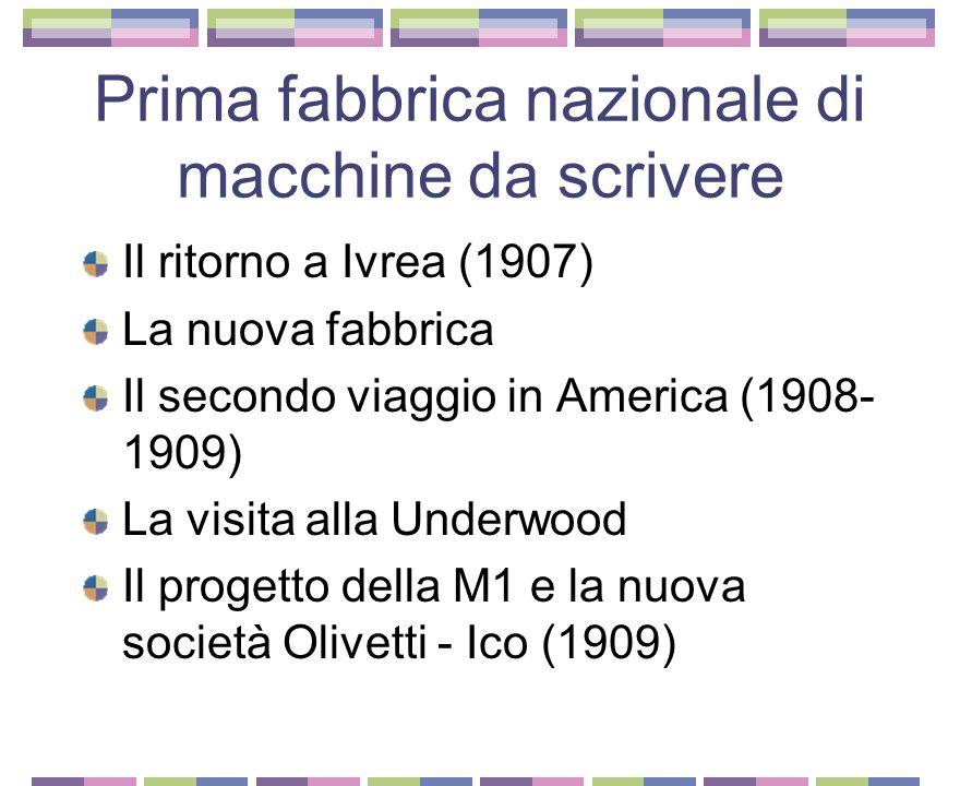 Centimetro Grammo Secondo La fondazione dell'impresa a Ivrea (1894) Formazione degli operai e socialismo Domenico Burzio Il trasferimento a Milano (19