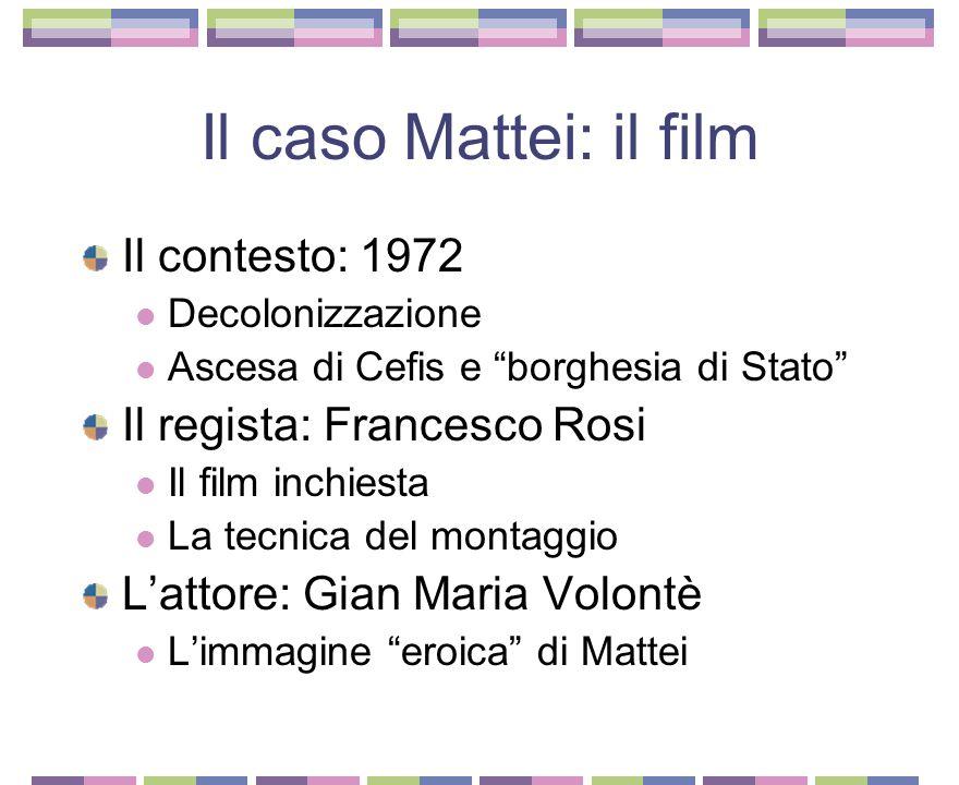 Enrico Mattei (1906-1962) L'emigrante di successo Marcello Boldrini L'attività partigiana Rapporti coi partiti politici Nazionalismo e ispirazione cattolica