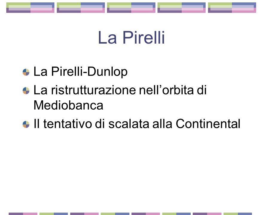 La Fiat del dopo Valletta La ristrutturazione del sistema gerarchico piramidale Mercato meno favorevole e crescita del costo del lavoro Fiat Holding I