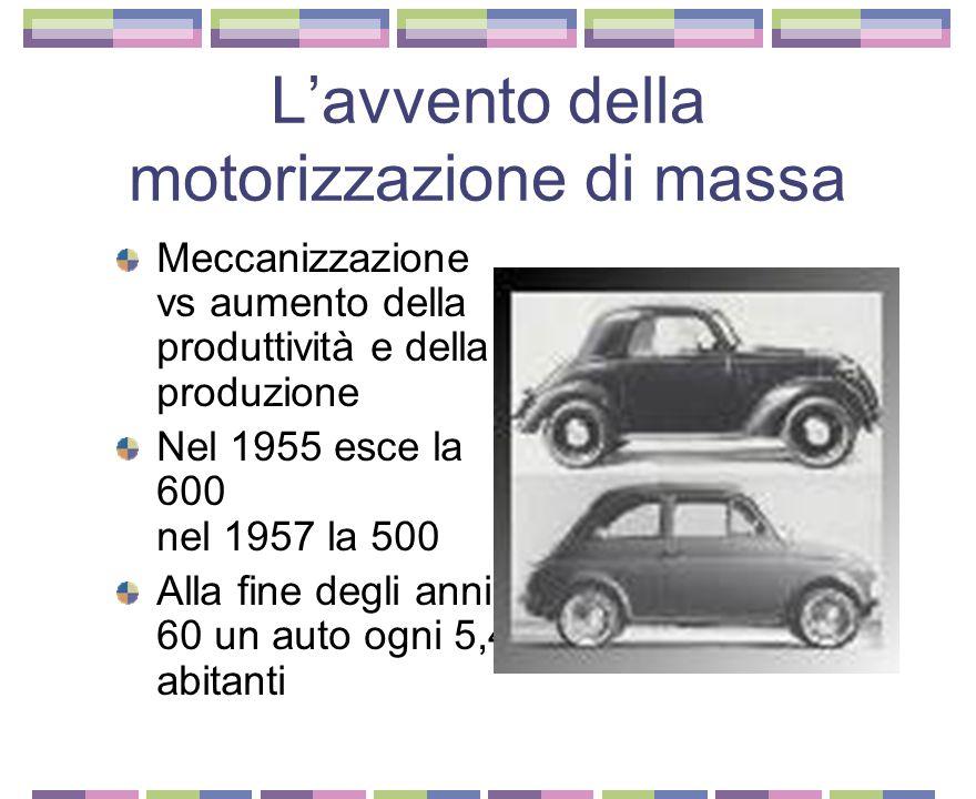 """MIRAFIORI: la fabbrica del """"miracolo"""" La Fiat e gli aiuti americani (riceve più del 20% degli aiuti ERP) Ammodernamento sezione siderurgica (ma sosteg"""