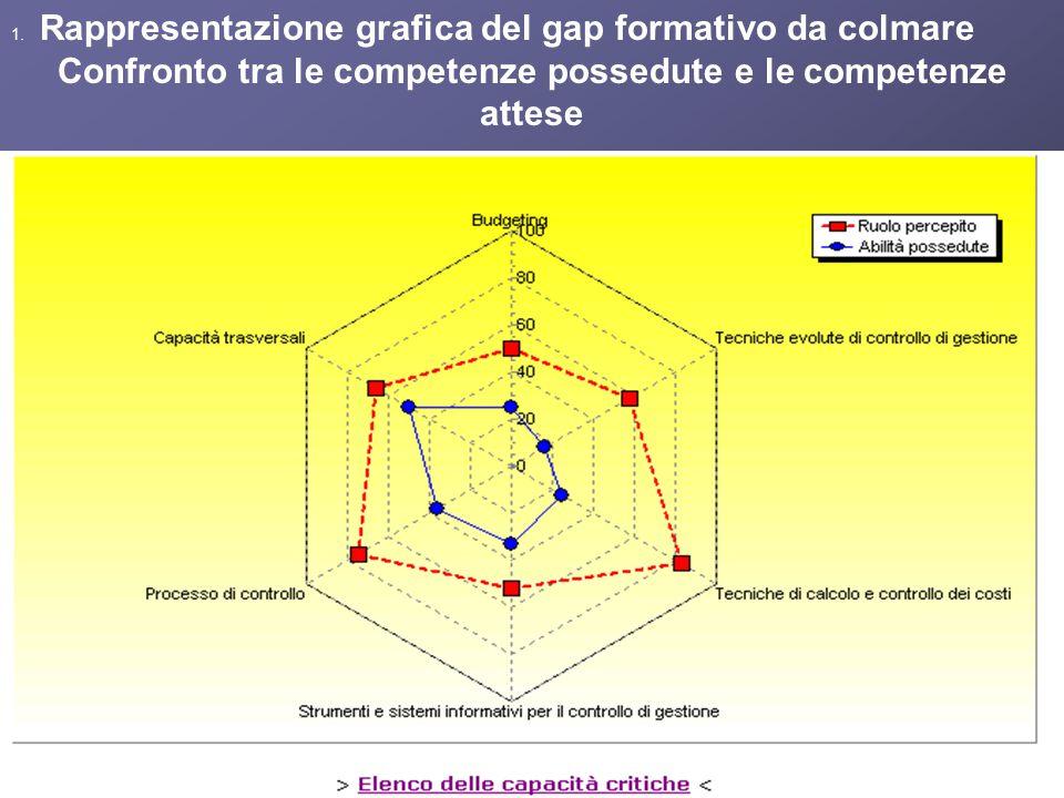 1. Rappresentazione grafica del gap formativo da colmare Confronto tra le competenze possedute e le competenze attese