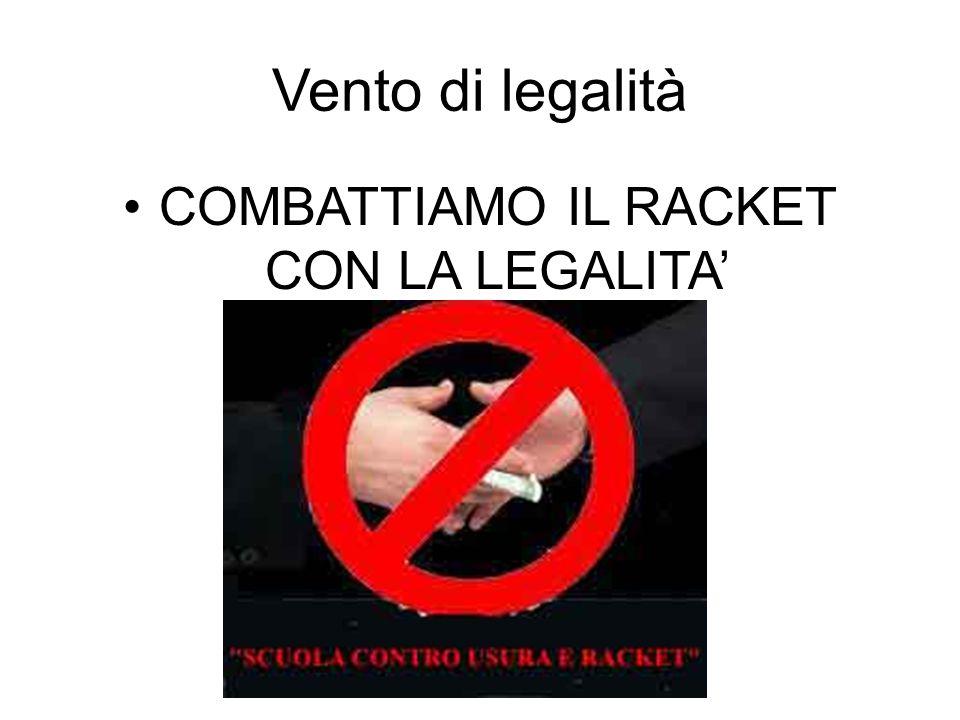 Vento di legalità COMBATTIAMO IL RACKET CON LA LEGALITA'
