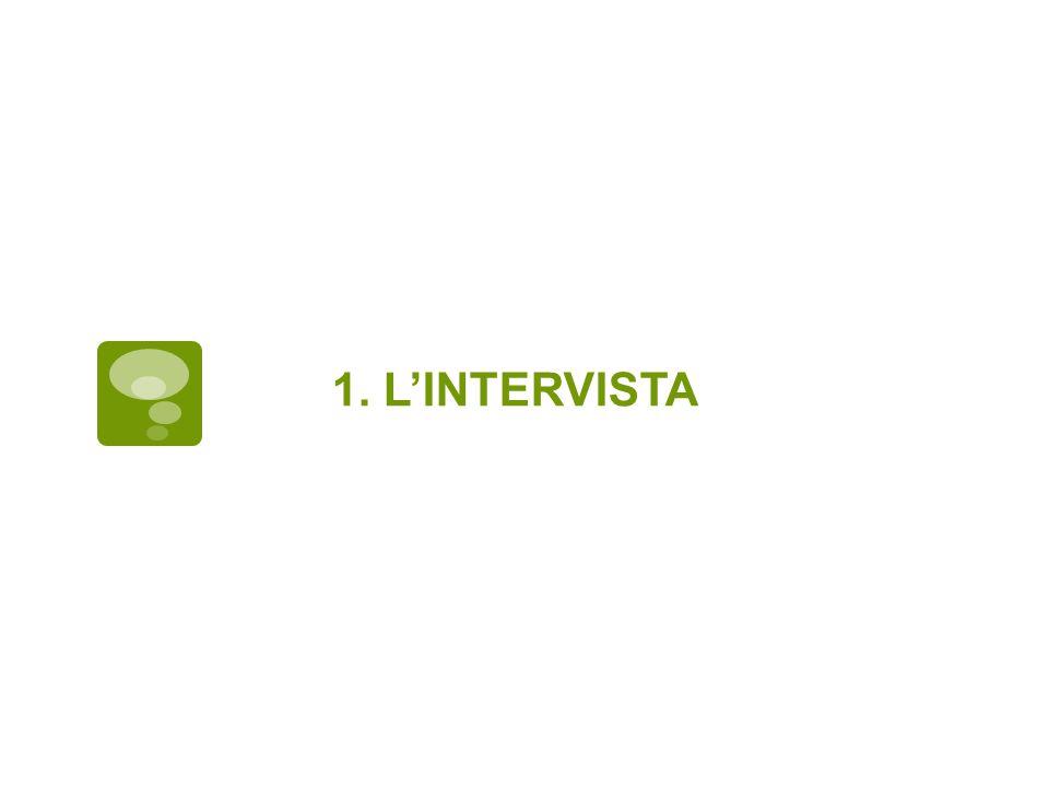 1. L'INTERVISTA