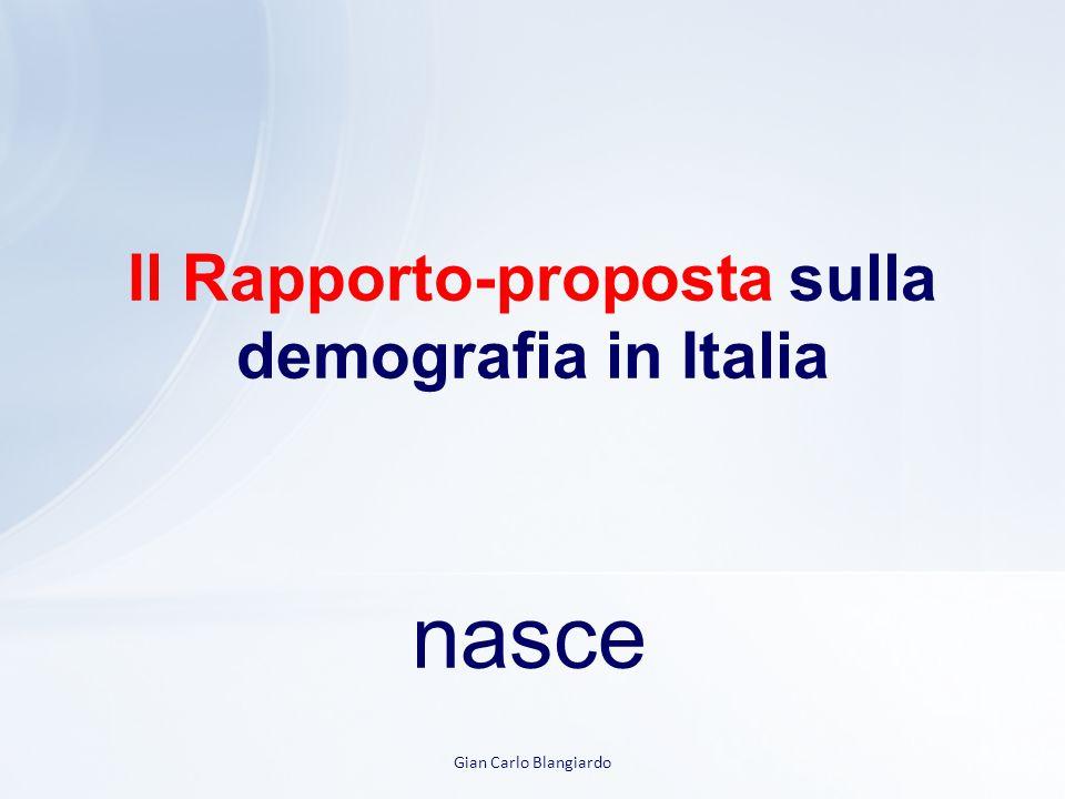 Il Rapporto-proposta sulla demografia in Italia nasce