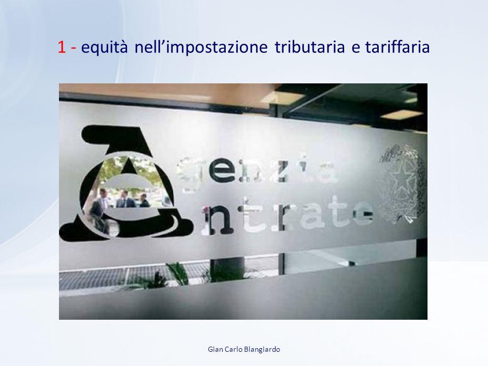 1 - equità nell'impostazione tributaria e tariffaria Gian Carlo Blangiardo