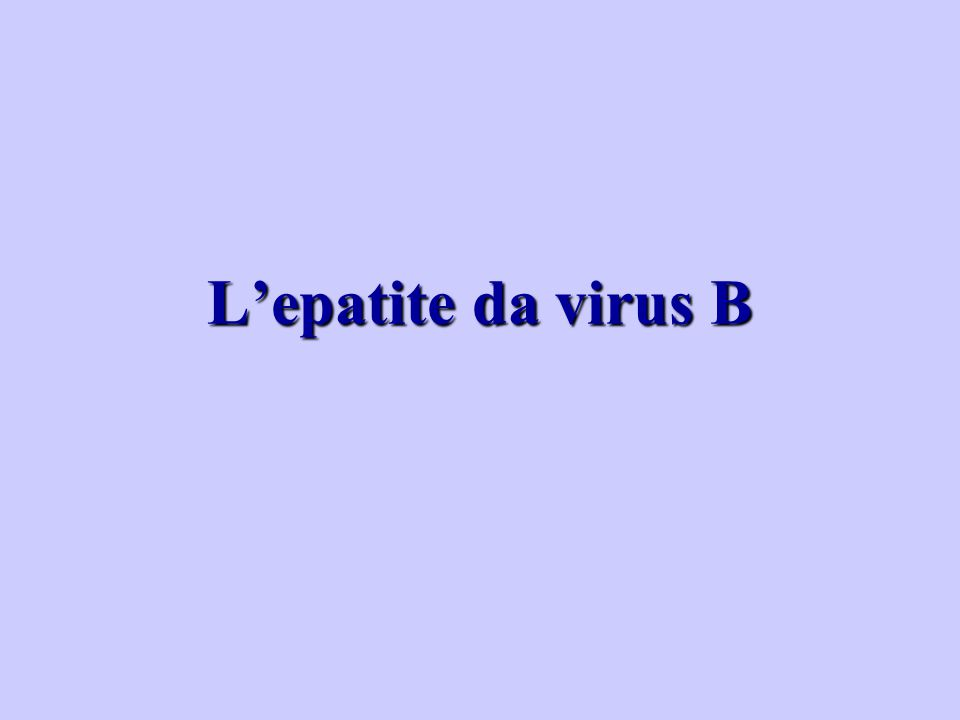 L'epatite da virus B