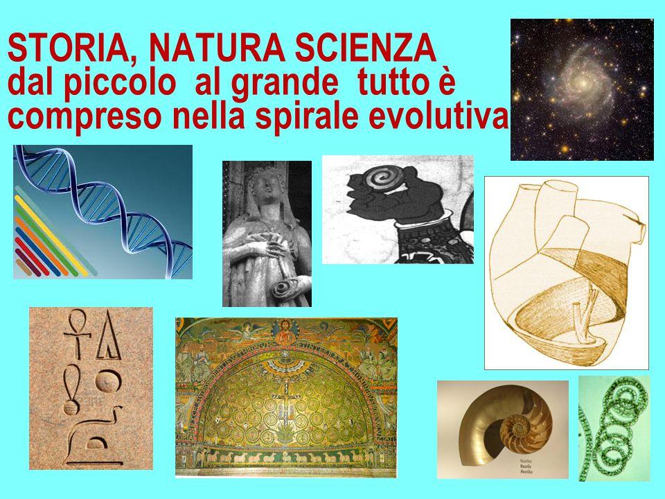STORIA, NATURA SCIENZA dal piccolo al grande tutto è compreso nella spirale evolutiva