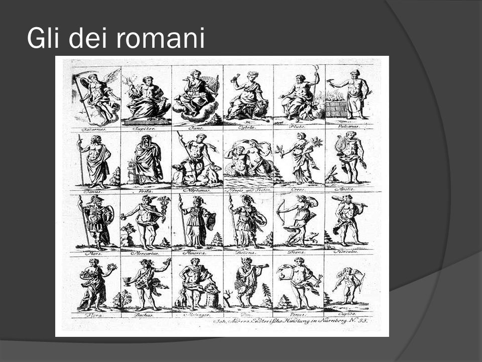 Gli dei romani