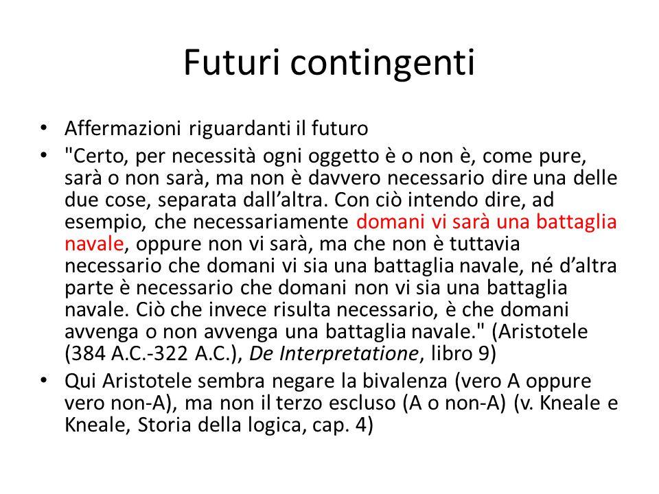 Futuri contingenti Affermazioni riguardanti il futuro