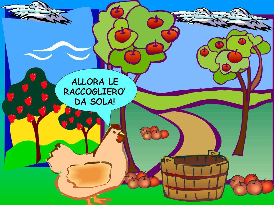 ALLORA LE RACCOGLIERO' DA SOLA!