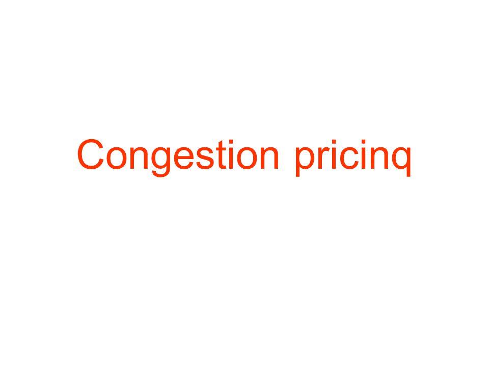 Congestion pricinq