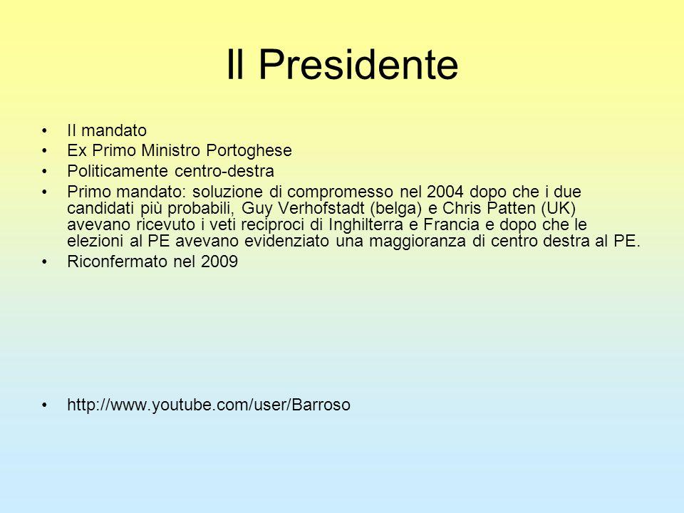 Il Presidente II mandato Ex Primo Ministro Portoghese Politicamente centro-destra Primo mandato: soluzione di compromesso nel 2004 dopo che i due cand