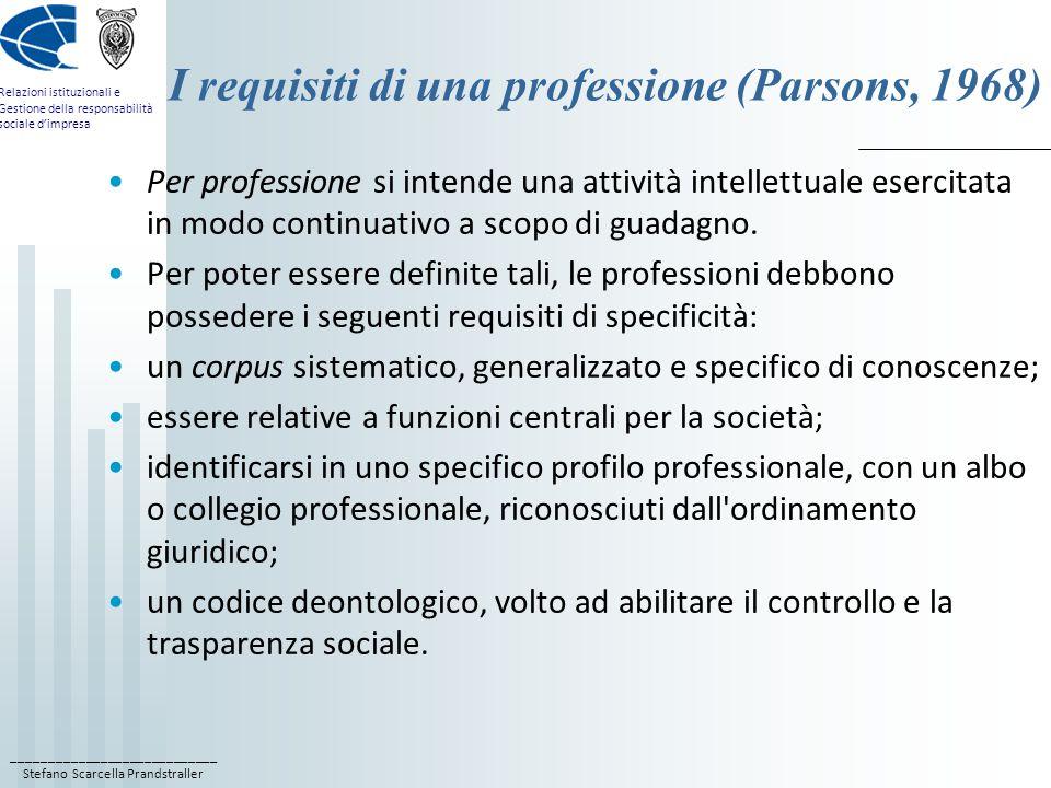 ____________________________ Stefano Scarcella Prandstraller Relazioni istituzionali e Gestione della responsabilità sociale d'impresa La ricerca AssoRel 2007 sulla formazione AssoRel nel 2007 ha svolto un'indagine: A) sulla provenienza formativa dei professionisti delle PR; B) sull'offerta formativa in PR.