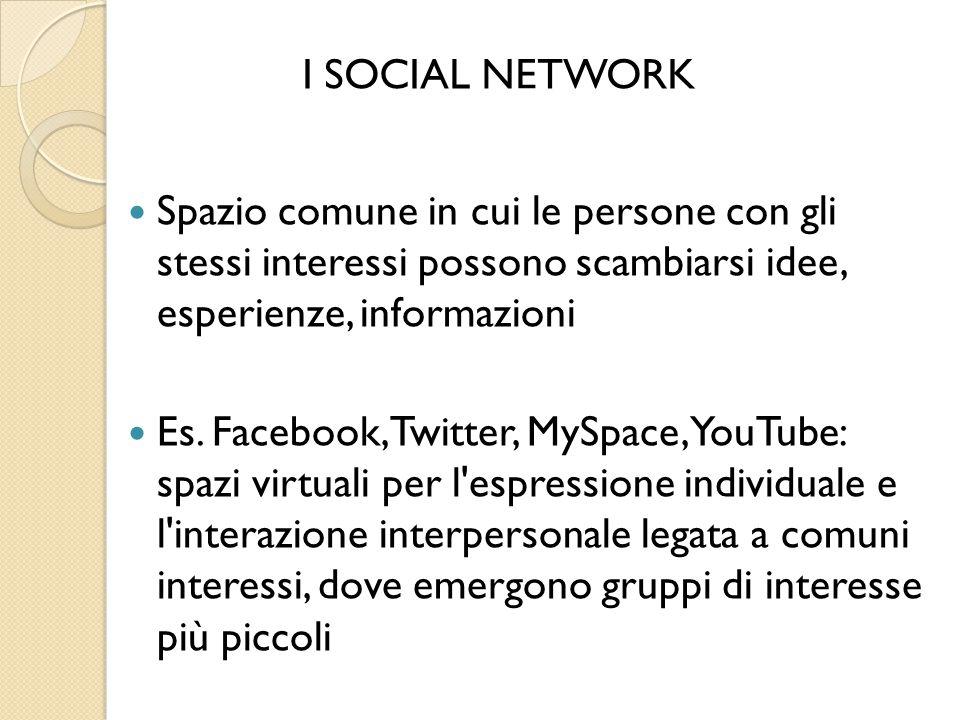 Spazio comune in cui le persone con gli stessi interessi possono scambiarsi idee, esperienze, informazioni Es.