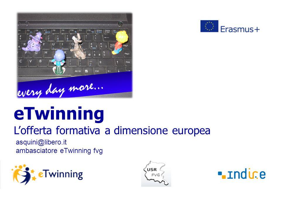 eTwinning L'offerta formativa a dimensione europea asquini@libero.it ambasciatore eTwinning fvg