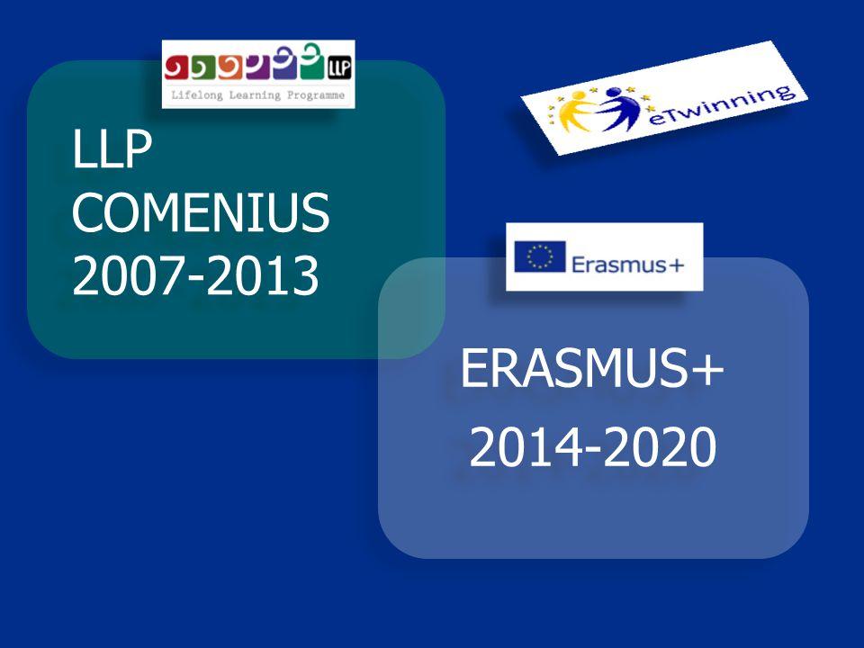 LLP COMENIUS 2007-2013 ERASMUS+ 2014-2020