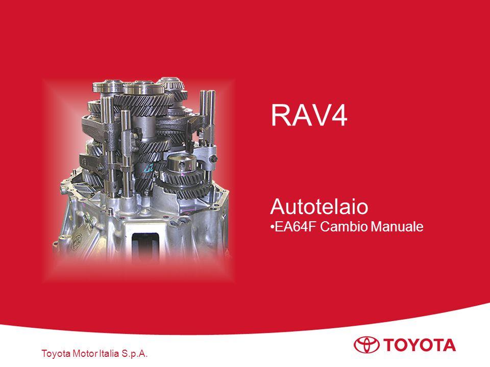 Toyota Motor Italia S.p.A. RAV4 Autotelaio EA64F Cambio Manuale