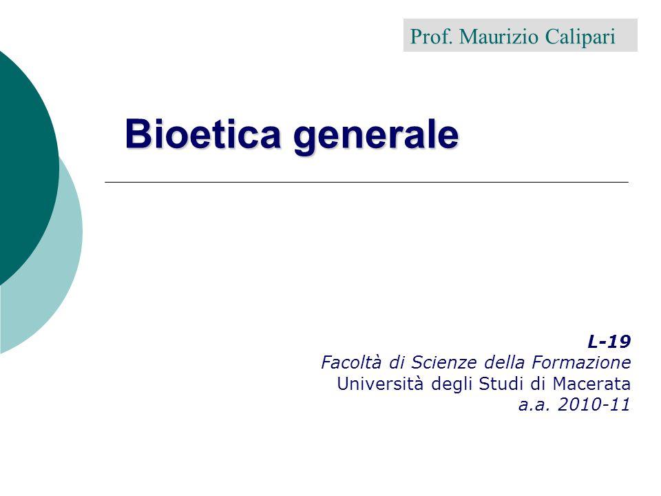 M. Calipari - 20102 Bioetica: sentinella? strumento di lavoro? sistema inquisitorio? cosa altro?