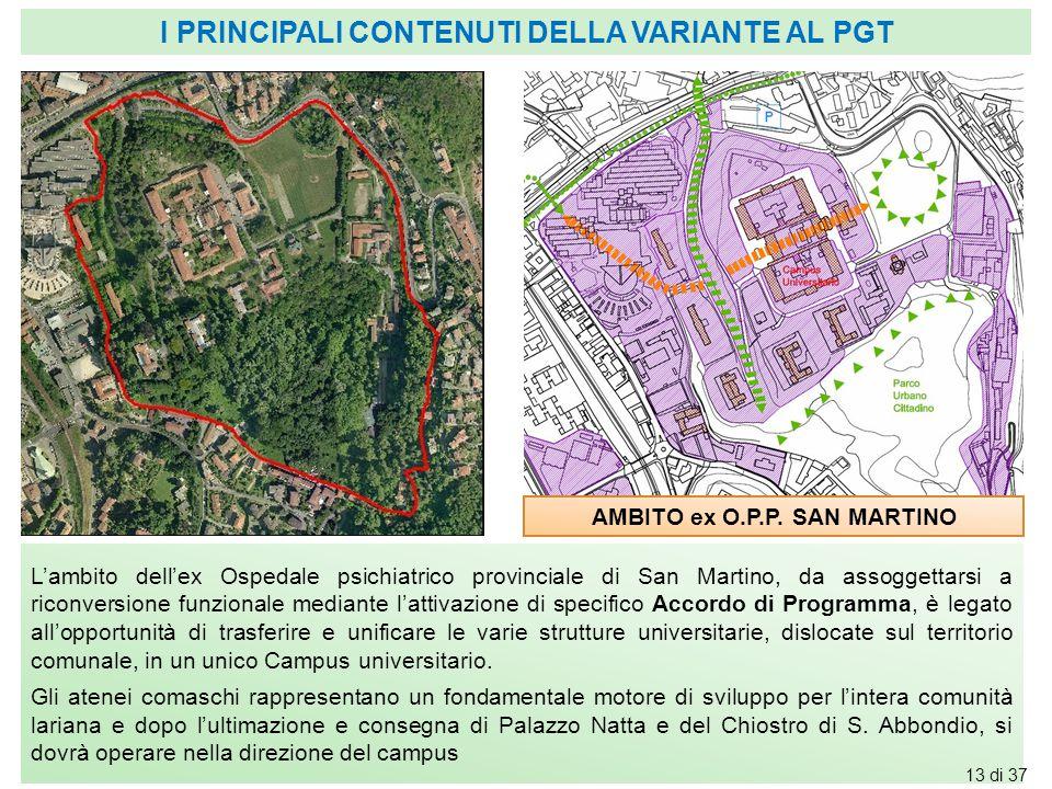 AMBITO ex O.P.P. SAN MARTINO L'ambito dell'ex Ospedale psichiatrico provinciale di San Martino, da assoggettarsi a riconversione funzionale mediante l