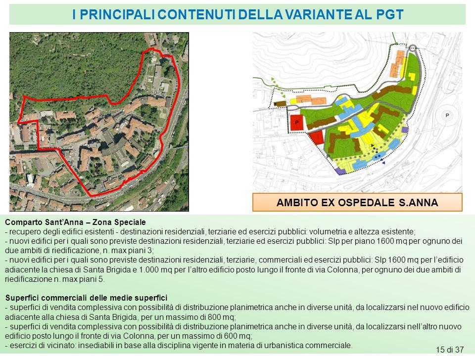 AMBITO EX OSPEDALE S.ANNA Comparto Sant'Anna – Zona Speciale - recupero degli edifici esistenti - destinazioni residenziali, terziarie ed esercizi pub