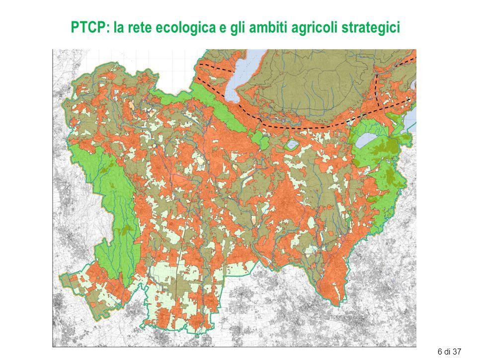 PTCP: la rete ecologica e gli ambiti agricoli strategici 6 di 37