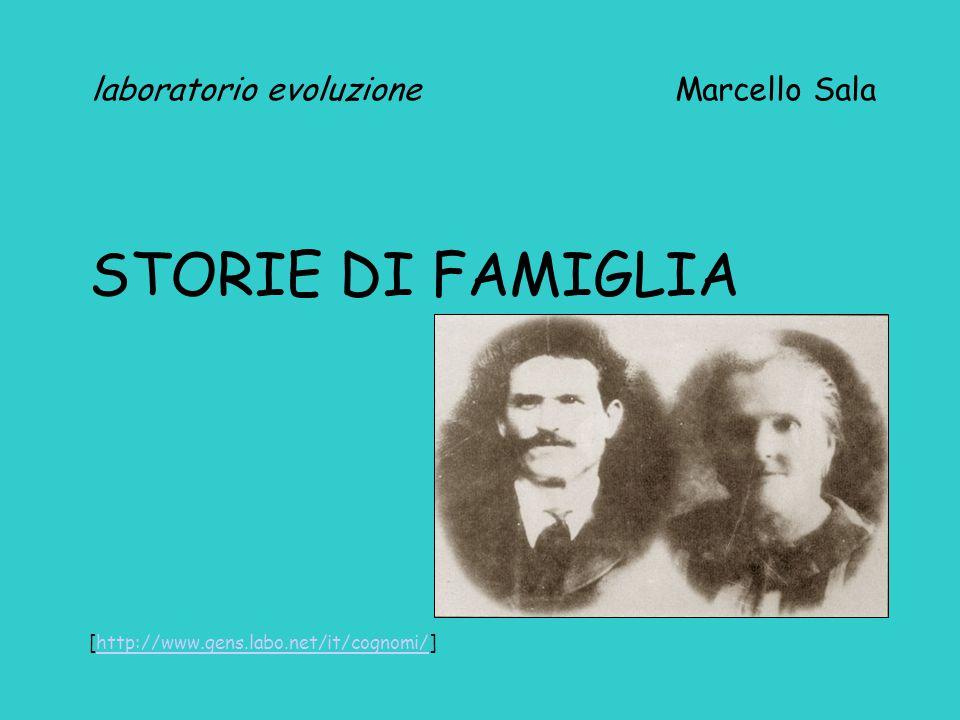 laboratorio evoluzione Marcello Sala STORIE DI FAMIGLIA [http://www.gens.labo.net/it/cognomi/]http://www.gens.labo.net/it/cognomi/
