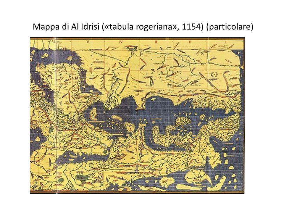 Mappa di Al Idrisi («tabula rogeriana», 1154) (particolare)