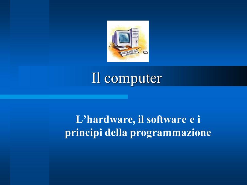 Il computer L'hardware, il software e i principi della programmazione