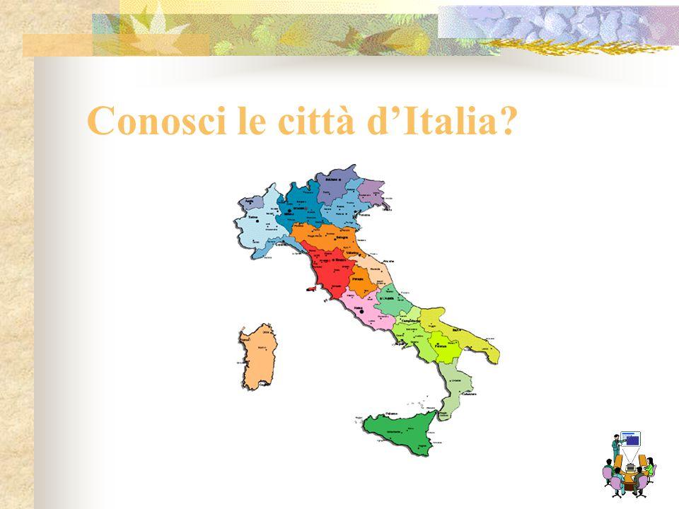 Ipertesti e pagine web Costruirai ora un ipertesto per un quiz sul riconoscimento di alcune immagini di città italiane …