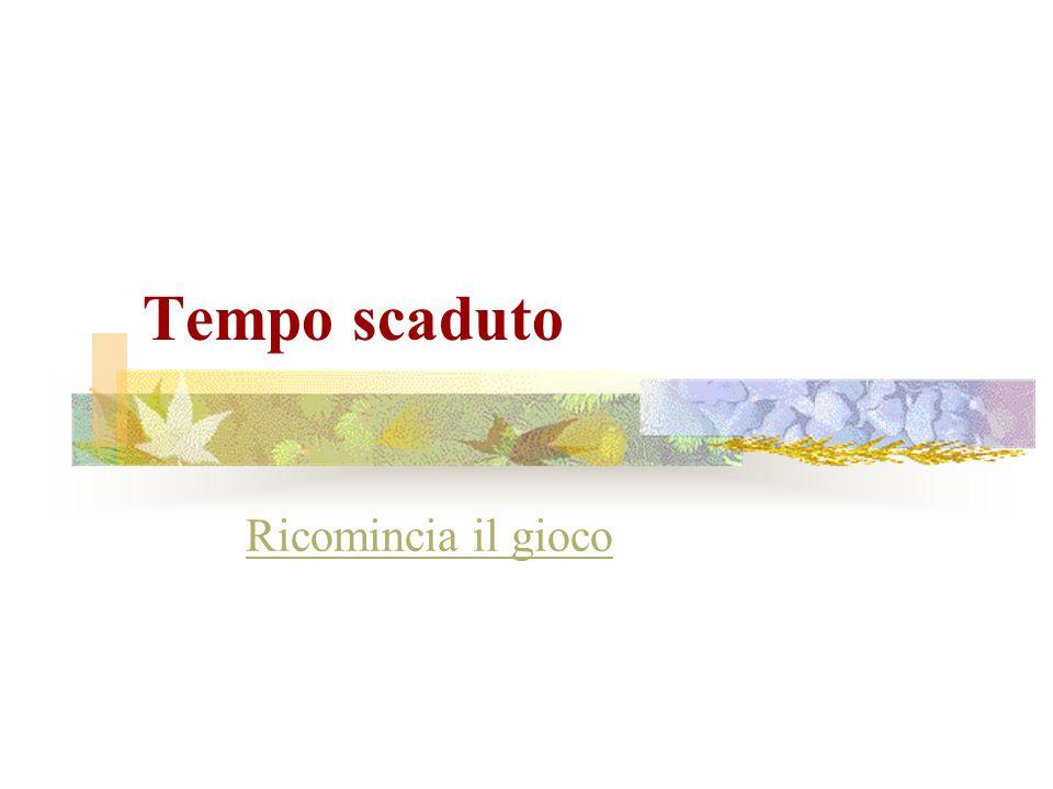 Hai 15 secondi per rispondere Firenze Milano Napoli Pisa Roma Torino Venezia Hai totalizzato 0 punti