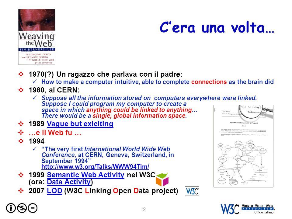 Architettura del Web  Decentralizzazione  Gli elementi fondamentali URI  L'innovazione più fondamentale del Web  Possono identificare qualunque cosa (risorse, concetti) HTTP  Format negotiation  Protocollo per recuperare le risorse (fetch resources) HTML  Strutturazione dei documenti  RDF (Resource Description Framework) è per il Semantic Web ciò che HTML è stato per il Web 4