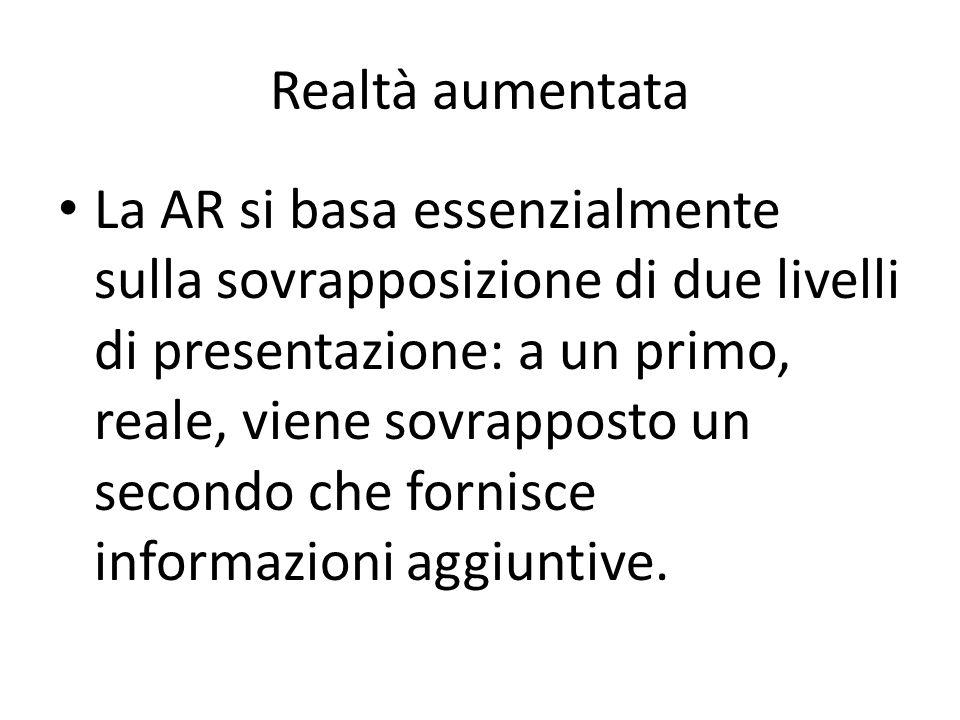 La AR si basa essenzialmente sulla sovrapposizione di due livelli di presentazione: a un primo, reale, viene sovrapposto un secondo che fornisce infor