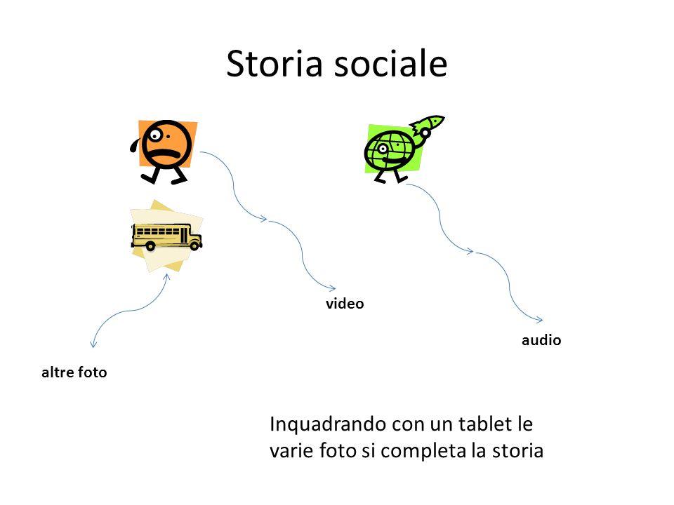 video audio altre foto Inquadrando con un tablet le varie foto si completa la storia Storia sociale