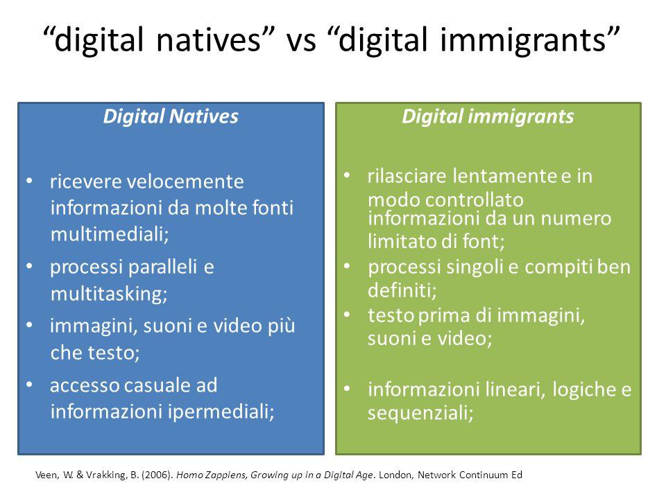 digitalnatives vsvs digitalimmigrants gratificazioni e seguono il curriculume standardizzati.