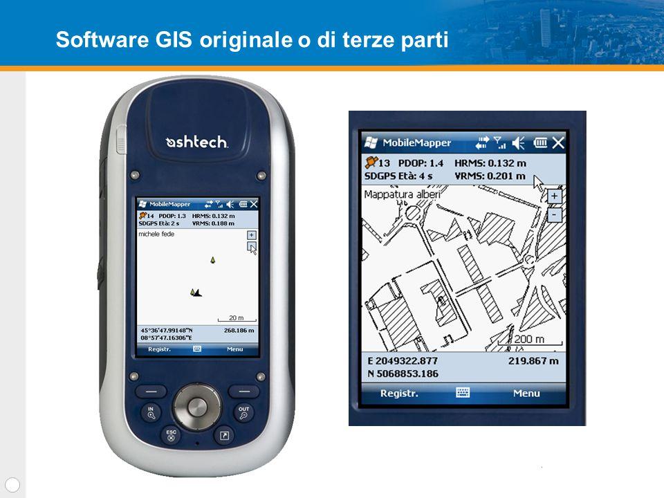Software GIS da ufficio Interfaccia grafica intuitiva Impostare i layer di lavoro Vedere i rilievi Post Processare i dati