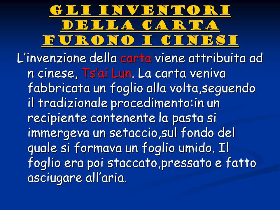 LA MECCANIZZAZIONE DEL PROCESSO PRODUTTIVO LA MECCANIZZAZIONE DEL PROCESSO PRODUTTIVODall'Italia l'uso della carta si diffuse rapidamente in tutta Europa.