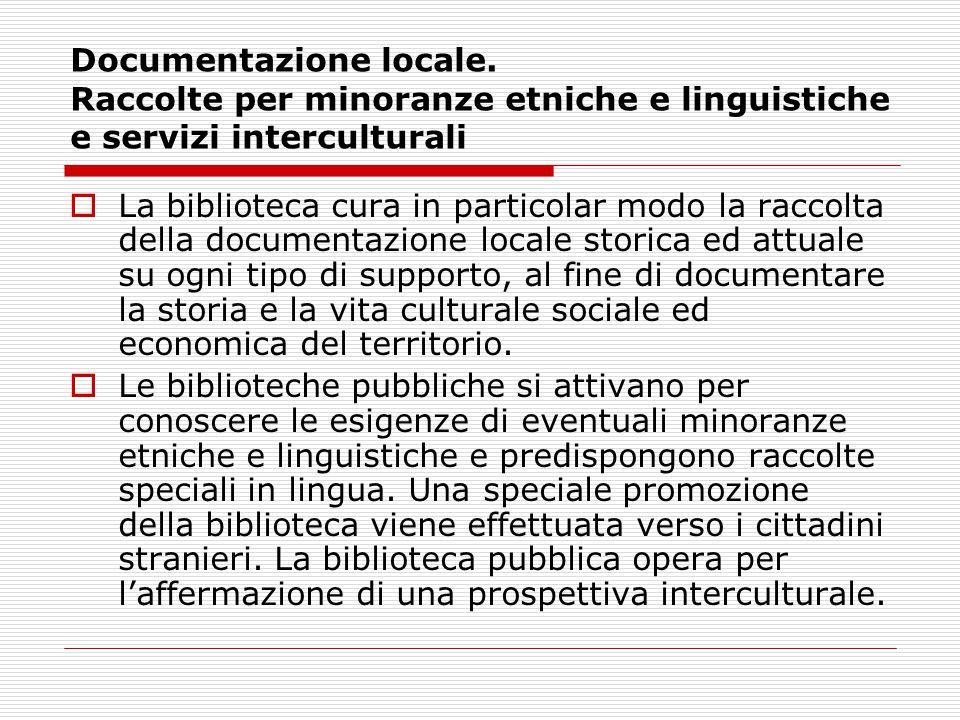Documentazione locale.