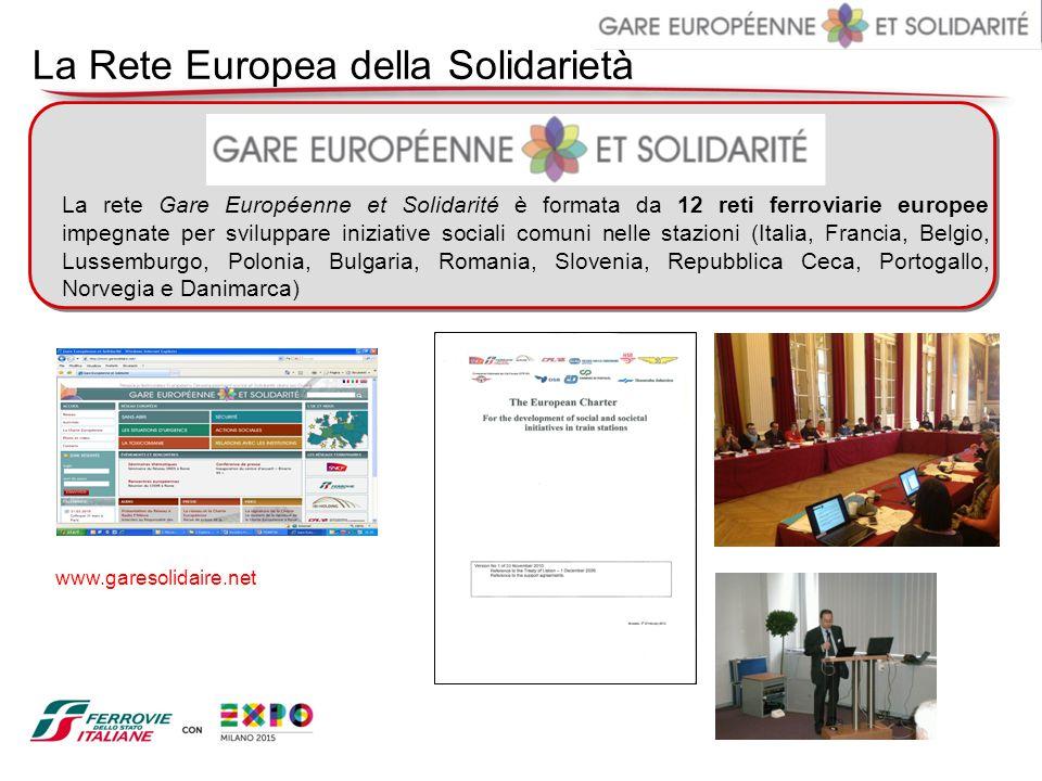 La Rete Europea della Solidarietà La rete Gare Européenne et Solidarité è formata da 12 reti ferroviarie europee impegnate per sviluppare iniziative s