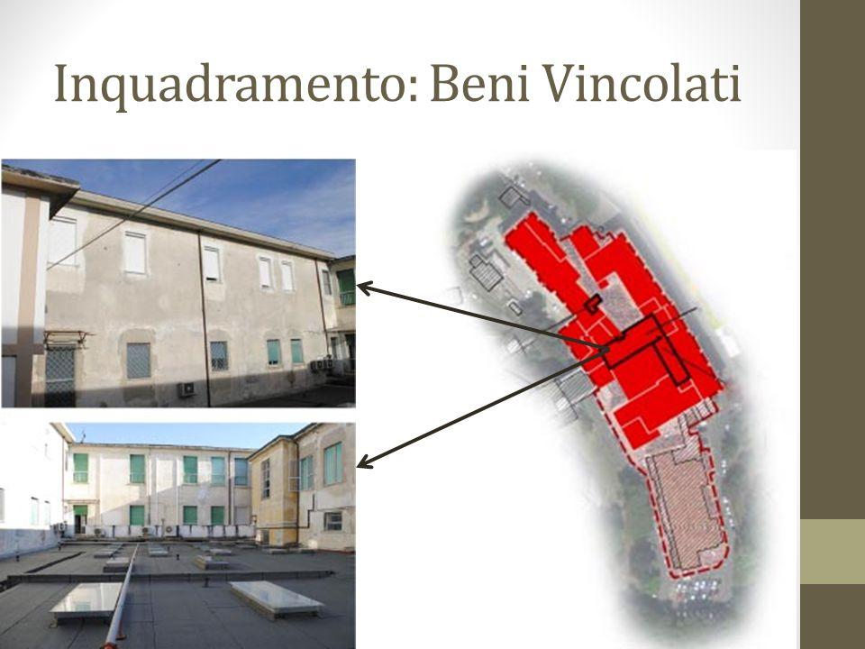 Inquadramento: Beni Vincolati Individuazione di quei corpi di fabbrica realizzati a partire dagli anni '60 o di recente costruzione e non congruenti con la struttura di interesse che sono esclusi dal provvedimento di vincolo.