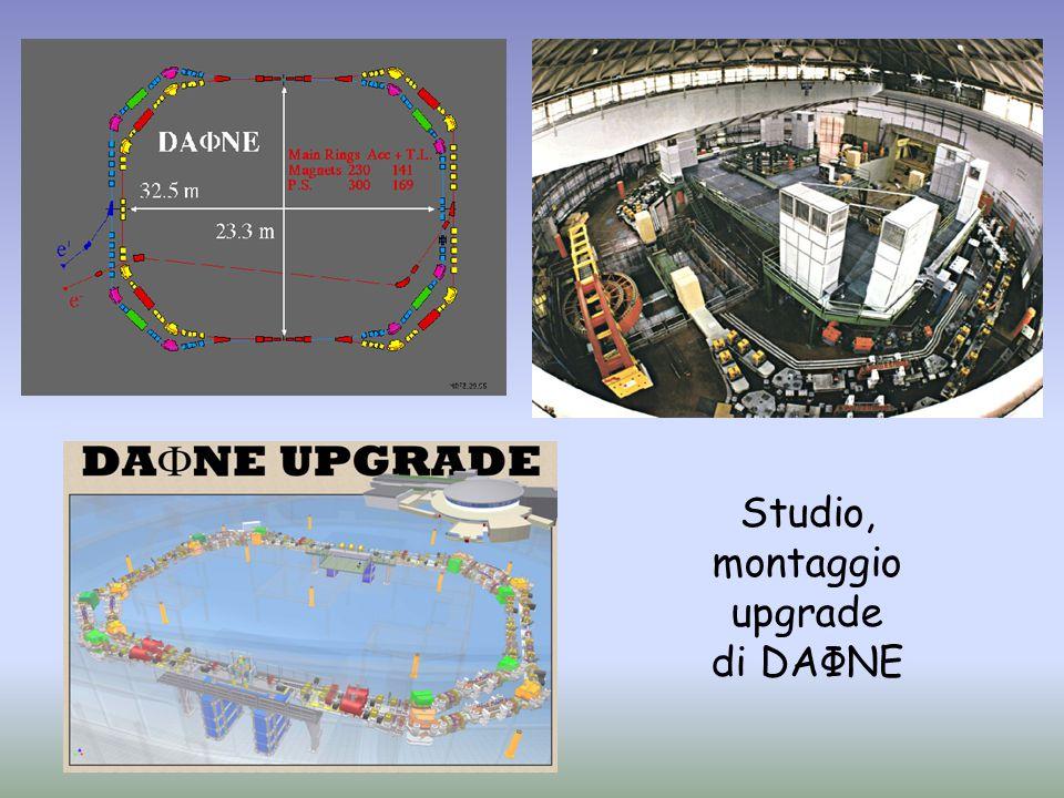 Studio, montaggio upgrade di DAΦNE