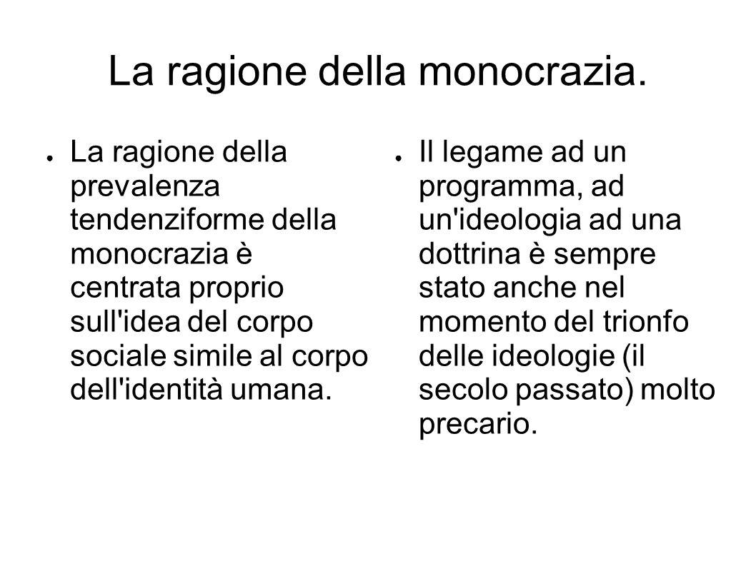 La ragione della monocrazia.