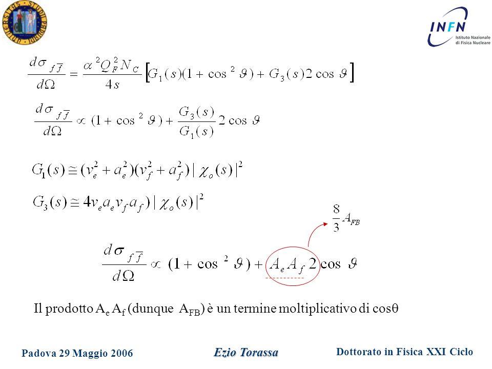 Dottorato in Fisica XXI Ciclo Padova 29 Maggio 2006 Ezio Torassa Fit con Line shape a A FB
