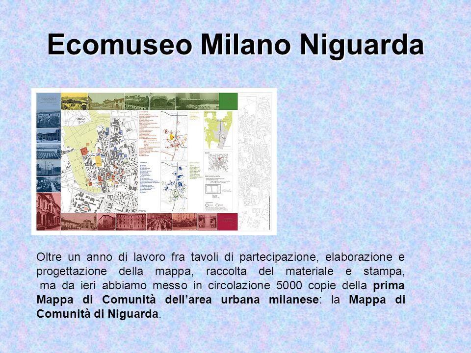 Ecomuseo Milano Niguarda Oltre un anno di lavoro fra tavoli di partecipazione, elaborazione e progettazione della mappa, raccolta del materiale e stampa, ma da ieri abbiamo messo in circolazione 5000 copie della prima Mappa di Comunità dell'area urbana milanese: la Mappa di Comunità di Niguarda.